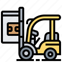 clamp, factory, forklift, paper, roll icon
