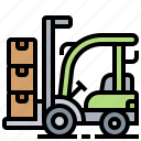 factory, forklift, storage, truck, warehouse icon