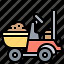 builder, carrier, compact, dumper, mini icon