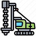 borehole, drilling, machine, piling, rig icon