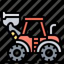 wheel, mining, truck, loader, transporter icon