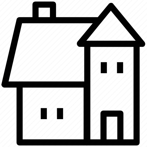dwelling, dwelling home, dwelling house, home, house, household icon