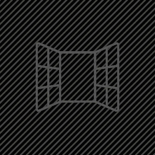 flat, furniture, house, open, view, windows icon