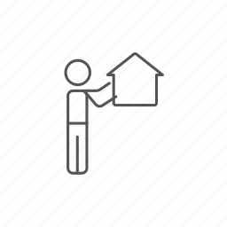 agent, builder, estate, home, housing, property, real icon