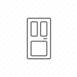 door, entrance, front, furniture, home, house, office icon