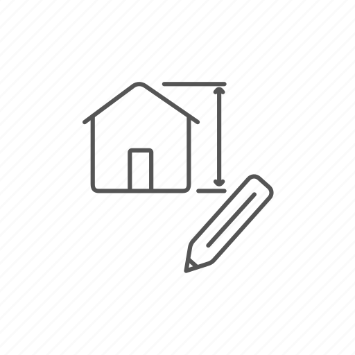 architecture, creative, design, engineering, house, measure, project icon