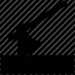 ax, axe, axe on log, axe with log, tool icon