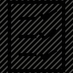 daily sheet, mark sheet, paper, paper sheet icon