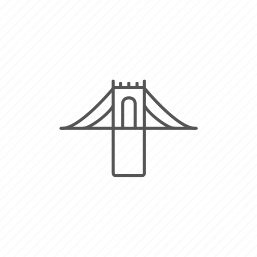 architecture, bridge, city, construction, crossing, project, suspension icon