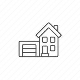 apartment, construction, cottage, dwelling, garage, house, property icon