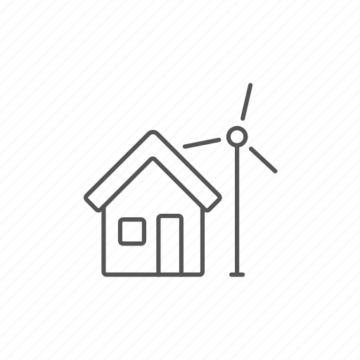 alternative, generator, green, house, renewable, technology, windmill icon