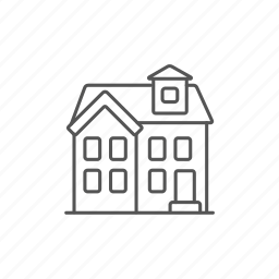 architecture, cottage, detached, house, project, storey, two icon