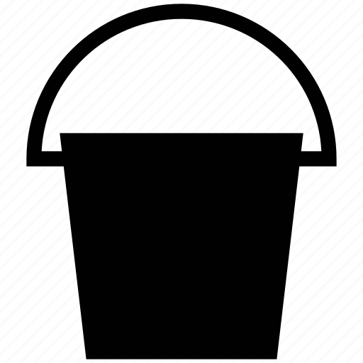 bucket, container, pail, paint bucket, pot icon