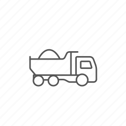 construction, dump, heavy, machine, machinery, truck, vehicle icon