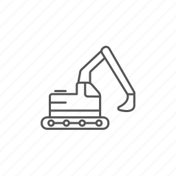 engineering, equipment, excavator, heavy, industrial, machine icon