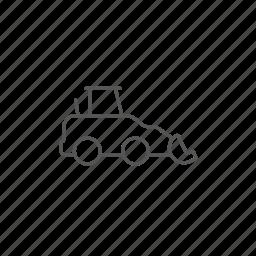 excavator, heavy, machine, machinery, power, truck, vehicle icon