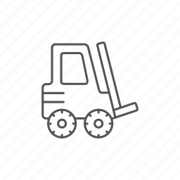 equipment, forklift, industrial, loader, moving, warehouse icon
