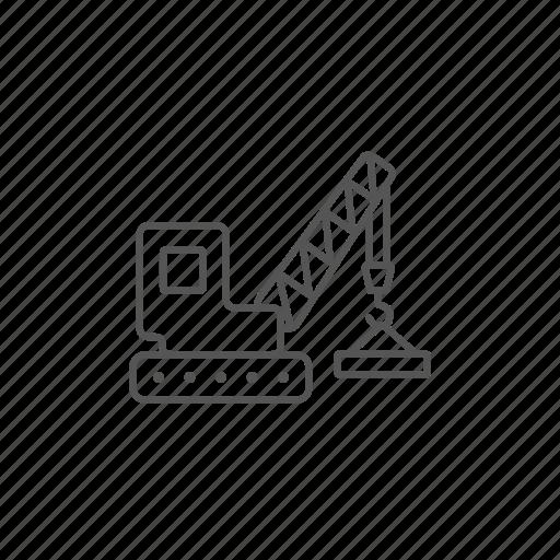 build, construction, crane, heavy, industrial, work icon
