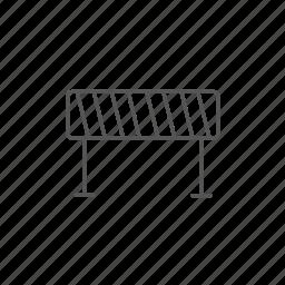 barrier, fence, repairing, road, roadblock, traffic icon