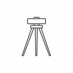 engineering, geodesy, ground, level, theodolite, tripod icon