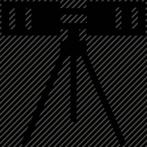 construction, equipment, stand, survey, theodolite, tripod icon