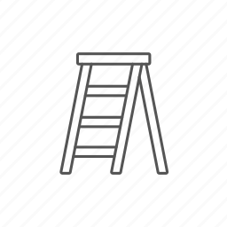 build, concept, repairing, stairs, stepladder, tool, work icon