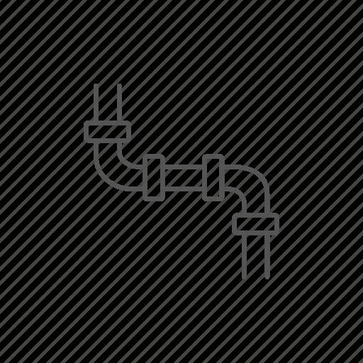 drain, engineering, laboratory, pipeline, plumbing, tube, water icon