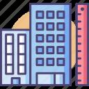 build, building measurement, building planning, city planning, planning icon