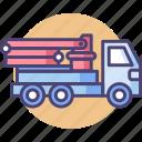 concrete, concrete mixer truck, concrete pump, pump icon