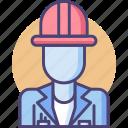 architect, construction, quantity surveyor, worker icon