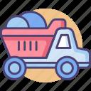 dump, dump truck, garbage truck, lorry, truck icon