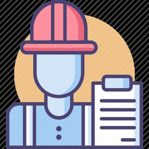 architect, employee, engineer, mechanic, staff, worker icon