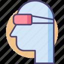eye, eye guard, eye protection, goggles, protection, safety goggles icon