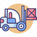 construction, forklift, forklift truck, industrial, industry, warehouse icon