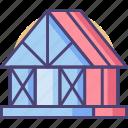 frame, framing, house, house frame, house framing icon