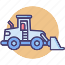 construction vehicle, front, front loader, loader icon