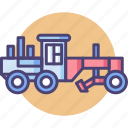 construction vehicle, grader, heavy machinery icon
