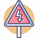 electric sign, electricty, high voltage, high voltage sign icon
