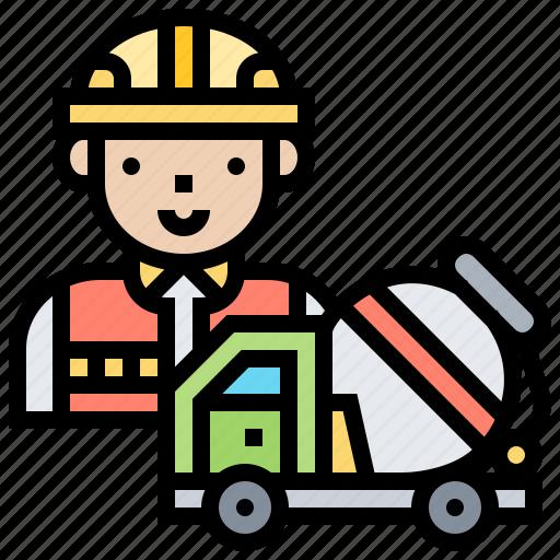 cement, concrete, construction, mixer, truck icon