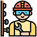 builder, construct, mechanic, repair, technician icon