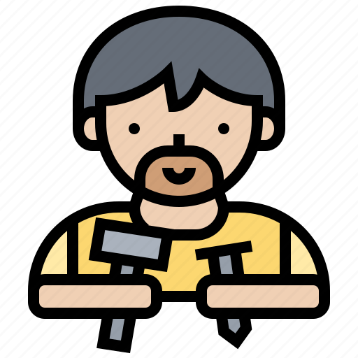 builder, clippers, construct, nail, worker icon