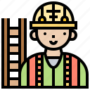 constructor, engineer, operator, survey, worker icon