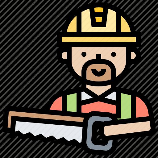 craftsman, saw, sawing, tool, woodwork icon