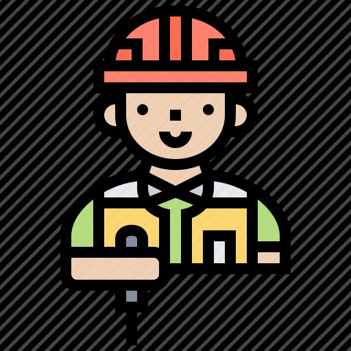 drilling, driver, mechanic, screw, technician icon