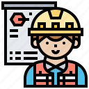 architect, building, engineer, plan, strategy icon