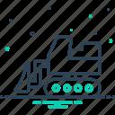 building, bulldozer, construction, equipment, excavator, linear, roller