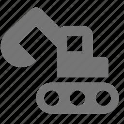 backhoe, construction, loader icon