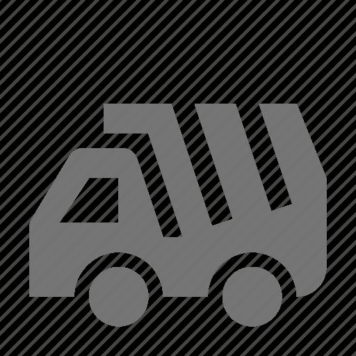 construction, dump, transportation, truck icon