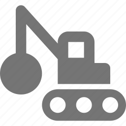 construction, truck, wrecking ball icon