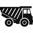 construction, dump truck, truck, vehicle icon